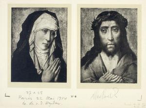 Maria als Mater Dolorosa (links), Christus als Man van Smarten (rechts)