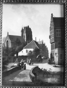 Stadsgezicht met de kerk van Wijk bij Duurstede