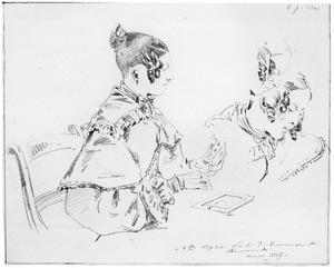 Portret van Sophia Johanna Justina Taets van Amerongen (1817-1861)
