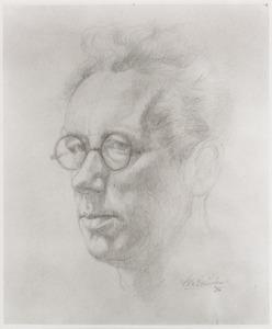 Zelfportret van Willem van Leusden (1886-1974)