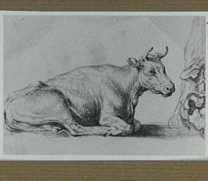 Studie van een koe en een boom