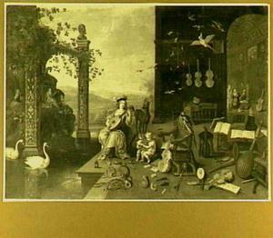 Allegorie op het Gehoor, een der vijf zintuigen