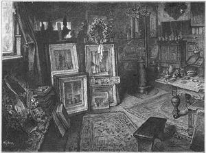 Het atelier van Johannes Bosboom, na zijn overlijden