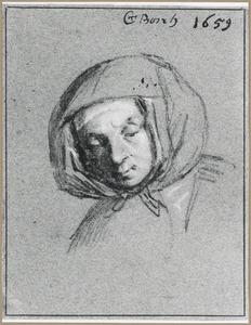 Portret van een vrouw met een hoofddoek