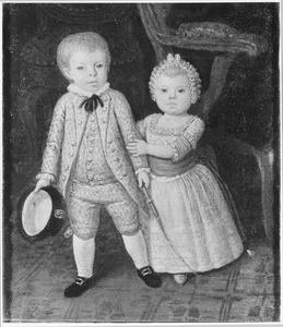 Portret van Cornelis Johannes Kneppelhout (1778-1818) en Charlotte Johanna Kneppelhout (1779-1842)