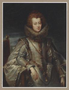 Portret van Maria Anna, Infante van Spanje, aartshertogin van Oostenrijk, later koningin van Hongarije en Bohemen (1604-1646)