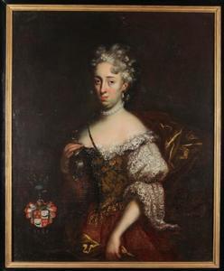 Portret van Eleonor Mary Hamilton (1678-1715), echtgenote van Petr Kokořovský z Kokořov