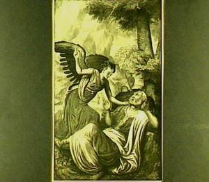 De profeet Elia gewekt door een engel op de berg Horeb (I Koningen 19:5-6)