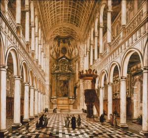 Interieur van de Antwerpse jezuïetenkerk
