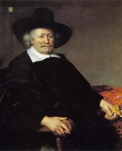 Portret van een onbekende man met een grote hoed