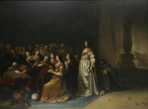 Koning Salomo wordt door zijn vrouwen overgehaald  tot afgoderij