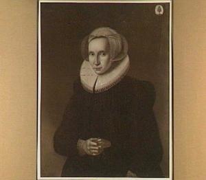 Portret van Annetje van der Eyck gez. Bleyswijck, echtgenote van Arent Doenz 's-Gravesande (1567-1620)