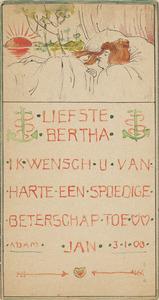 Beterschapskaart voor Bertha