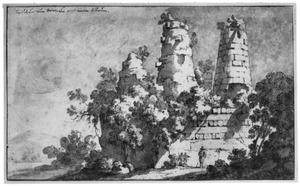 De ruïne van het zogenaamde graf van de Horatii en Curiatii bij Albano