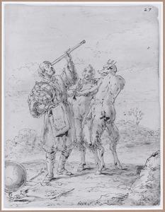 Sterrenkundige met twee duivels (Suenos 1641, boek III, zesde droom)