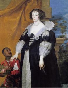 Portret van Henriette de Lorraine, dite Henriette de Phalsbourg (1605-1660), met een zwarte bediende