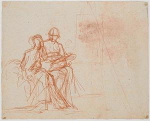 Voorstudie van kunstenaar (1745-1802) en zijn vrouw (1771-1831)