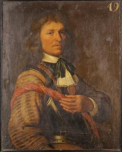 Portret van een onbekende man in kuras