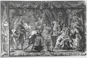 Het bruiloftsmaal van Zenobia en Odaenathus
