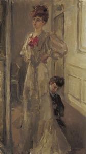 Model in jurk en kleermaakster
