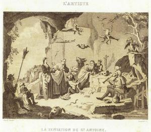 De verzoeking van de H. Antonius Abt
