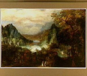Landschap met bergen en een rivier