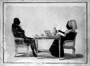 Dubbelportret van Anthony Frederik Robbert Evert van Haersolte (1756-1830) en Catharina Jacoba Johanna Taets van Amerongen (1758-1820)