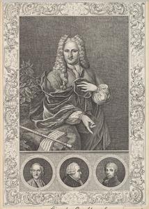Portretten van Samuel Luchtmans I (1685-1757), Samuel Luchtmans II (1725-1780), waarschijnlijk Johannes Luchtmans  (1726-1809) en Samuel Luchtmans III (1766-1812)