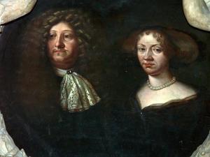 Epitaaf van Hans Hansen Osten (1617-1672) met zijn vrouw Abel Catherine