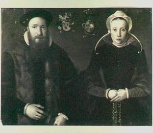Portret van Jacob Pauli Hallincq (1533-1596) en Cornelia van der Bies (...-1581)