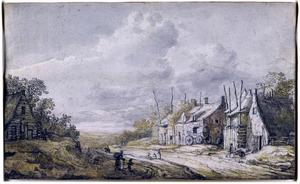 Gezicht in een dorpsstraat