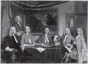 Portret van de regenten van het Sint Joris- of Grote Proveniershuis te Haarlem