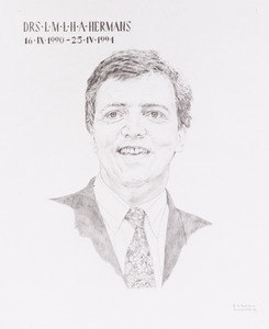 Portret van Louis Marie Lucien Henri Alphonse Hermans (1951- )