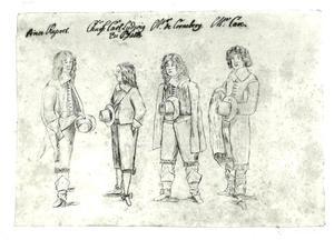 Portretten van Rupert van de Palts(1619-1682), Karl Ludwig van de Palts (1617-1680), een heer de Croneberg en mogelijk Richard Cave († 1645)