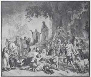 Mozes slaat op de rots (fragment)