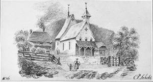 Landschap met kerkgebouw