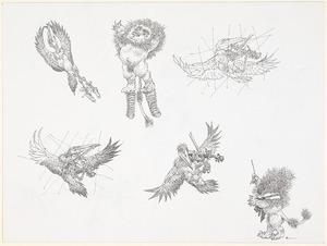 Leeuwen met maraboes 1