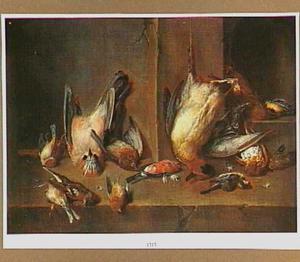 Stilleven met dode vogels.