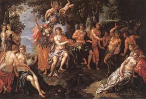 Wedstrijd tussen Apollo en Marsyas