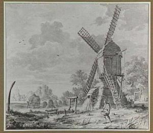 Landschap met windmolen