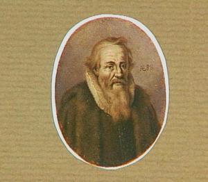 Portretminiatuur van de Zwitserse kunstenaar Dietrich Meyer I (1572-1658)