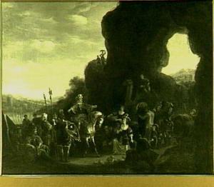 Jepfta door zijn dochter begroet bij thuiskomst uit de oorlog (Richteren 11:29-40)