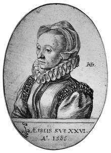 Portret van een vrouw, mogelijk Catharina Ortel, zuster van de geleerde Abraham Ortelius