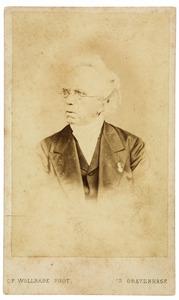 Portret van Johannes Gerhard Godfried Bierhaus (1801-1878)