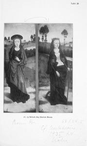 De HH. Barbara (links) en Catharina van Alexandrië (rechts)