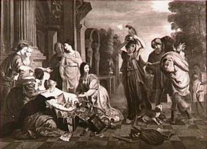 Achilles herkend te midden van de dochters van Lykomedes