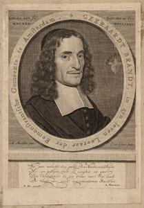 Portret van Geeraert Brandt (1626-1685)
