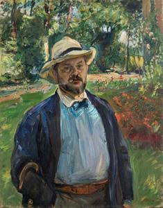 Zelfportret in de tuin in Godramstein