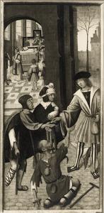 De H. Rochus verdeelt zijn bezit onder de armen