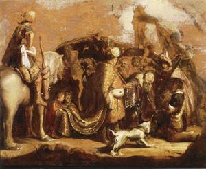 David met het hoofd van Goliat voor Saul (1 Samuel 17:57-58)